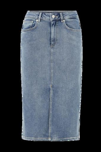 Farkkuhame slfLana HW Hush Blue Denim Skirt EX