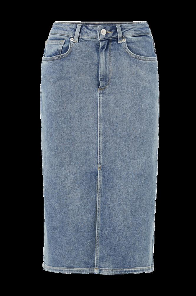 Selected Femme Denimnederdel slfLana HW Hush Blue Denim Skirt EX