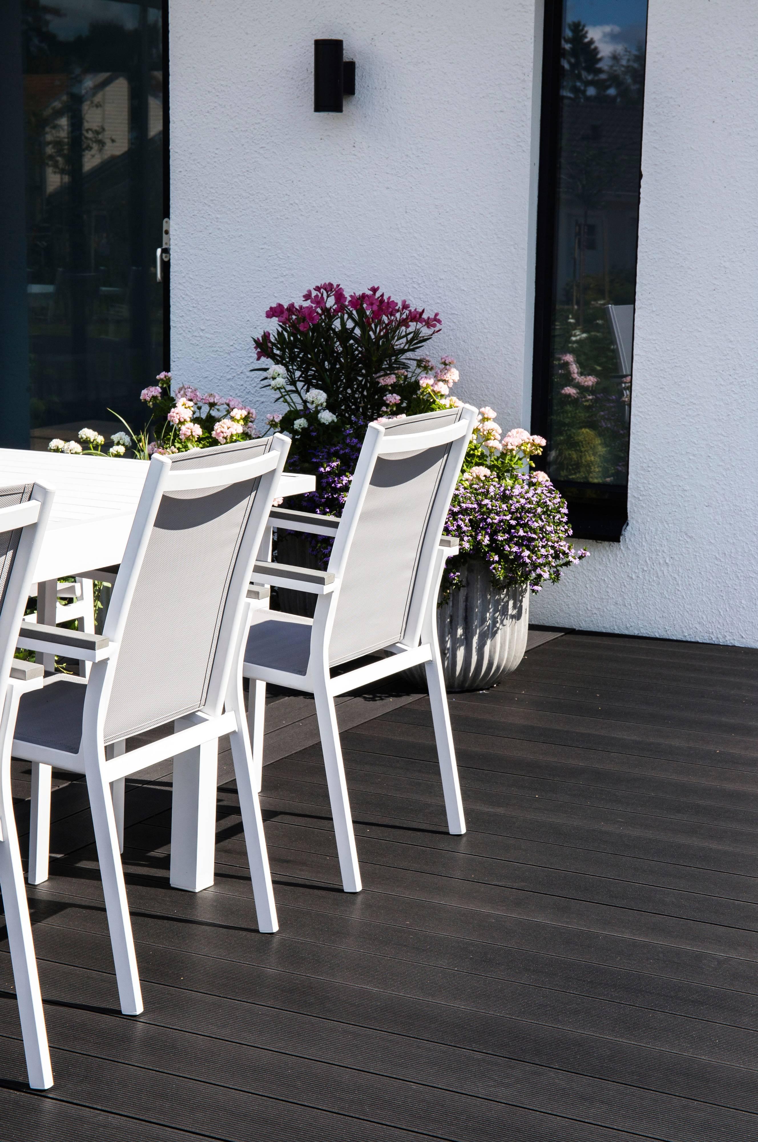 NORDFORM Spisegruppe Marbella Parma, 4 stoler Hvit