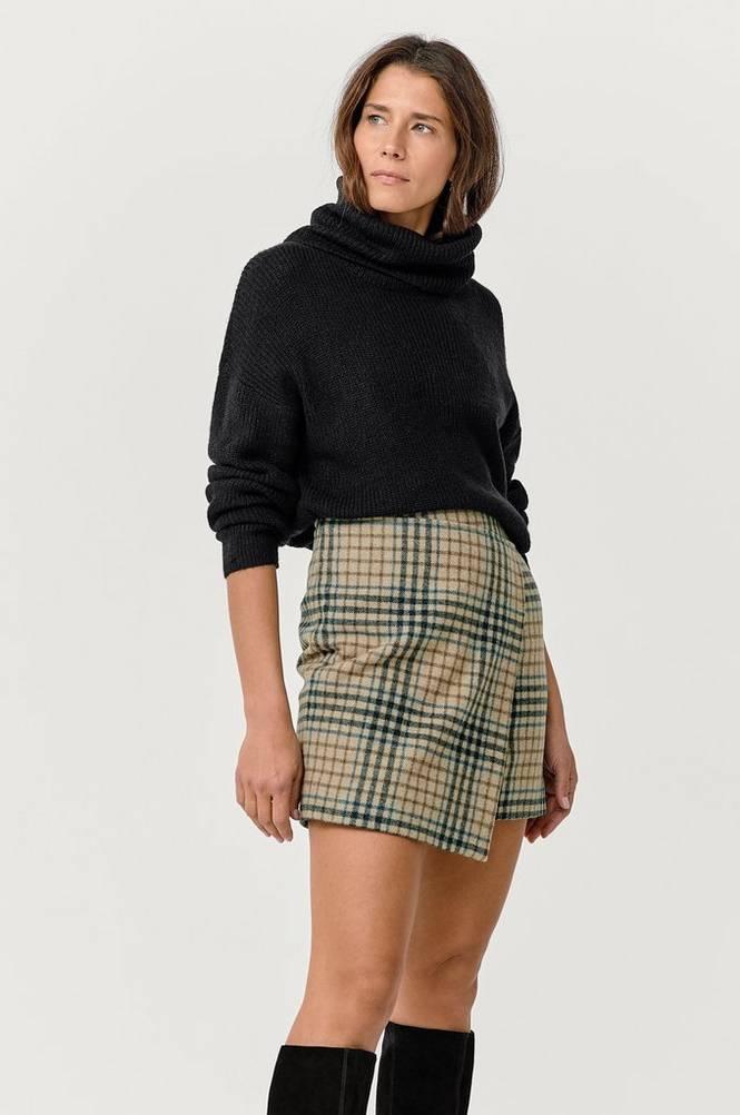 Dagmar Slå-om-nederdel Darda Check Skirt