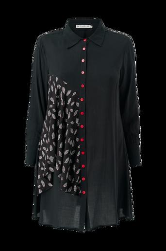 Pitkä paitapusero, jossa kuviollinen osio