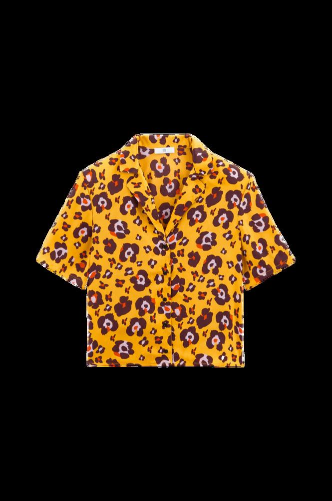 La Redoute Leopardmønstret bluse med krave med revers