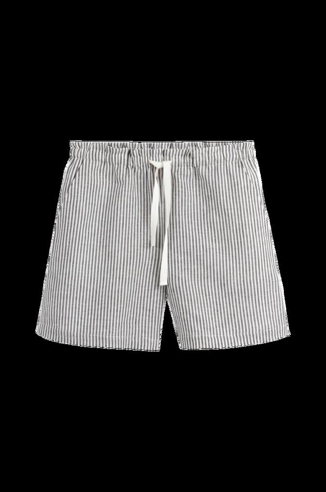 La Redoute Stribede shorts i hørblanding