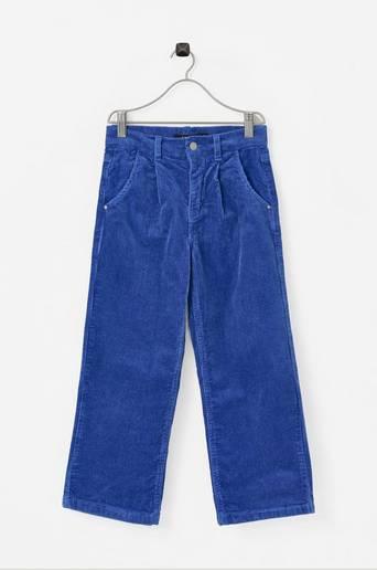 Vakosamettihousut nlfBanicka HW 7/8 Wide Pant