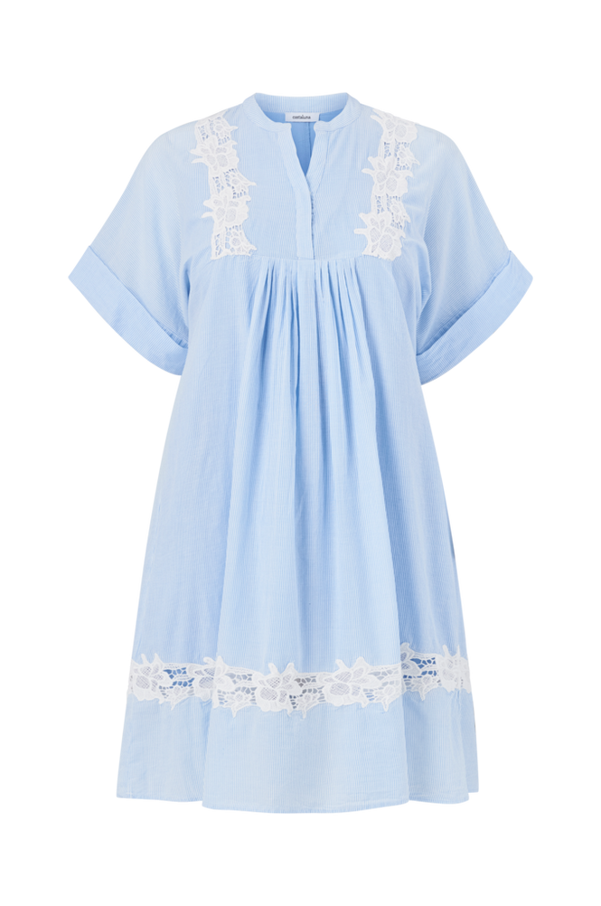La Redoute Smalstribet kjole med broderie anglaise