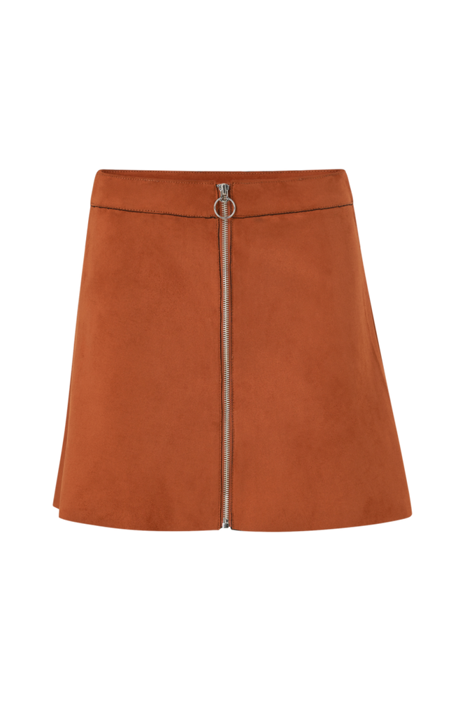 Only Nederdel onlLea Faux Suede Bonded Skirt