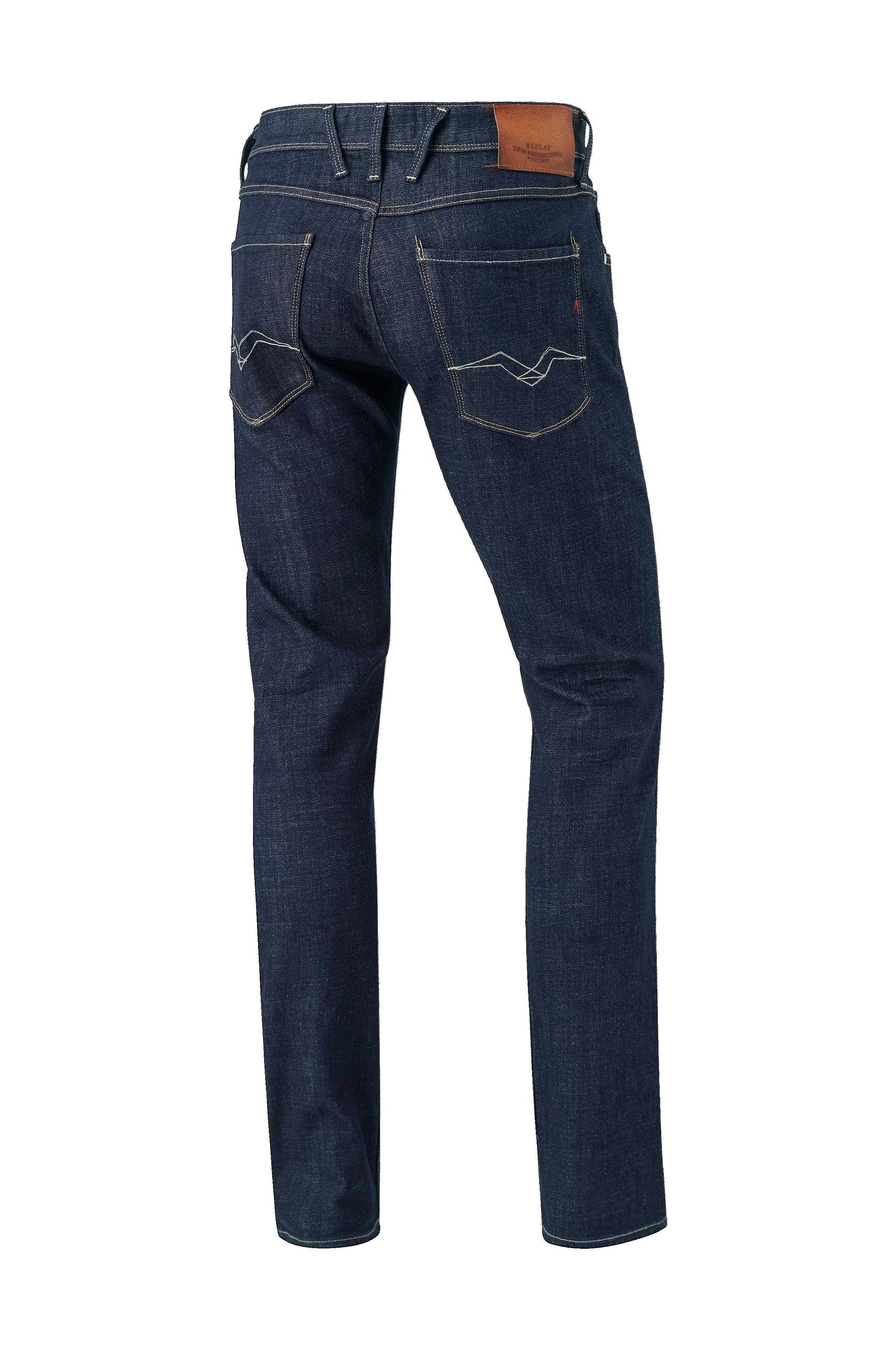 Replay Jeans Anbass - Blå - Herr