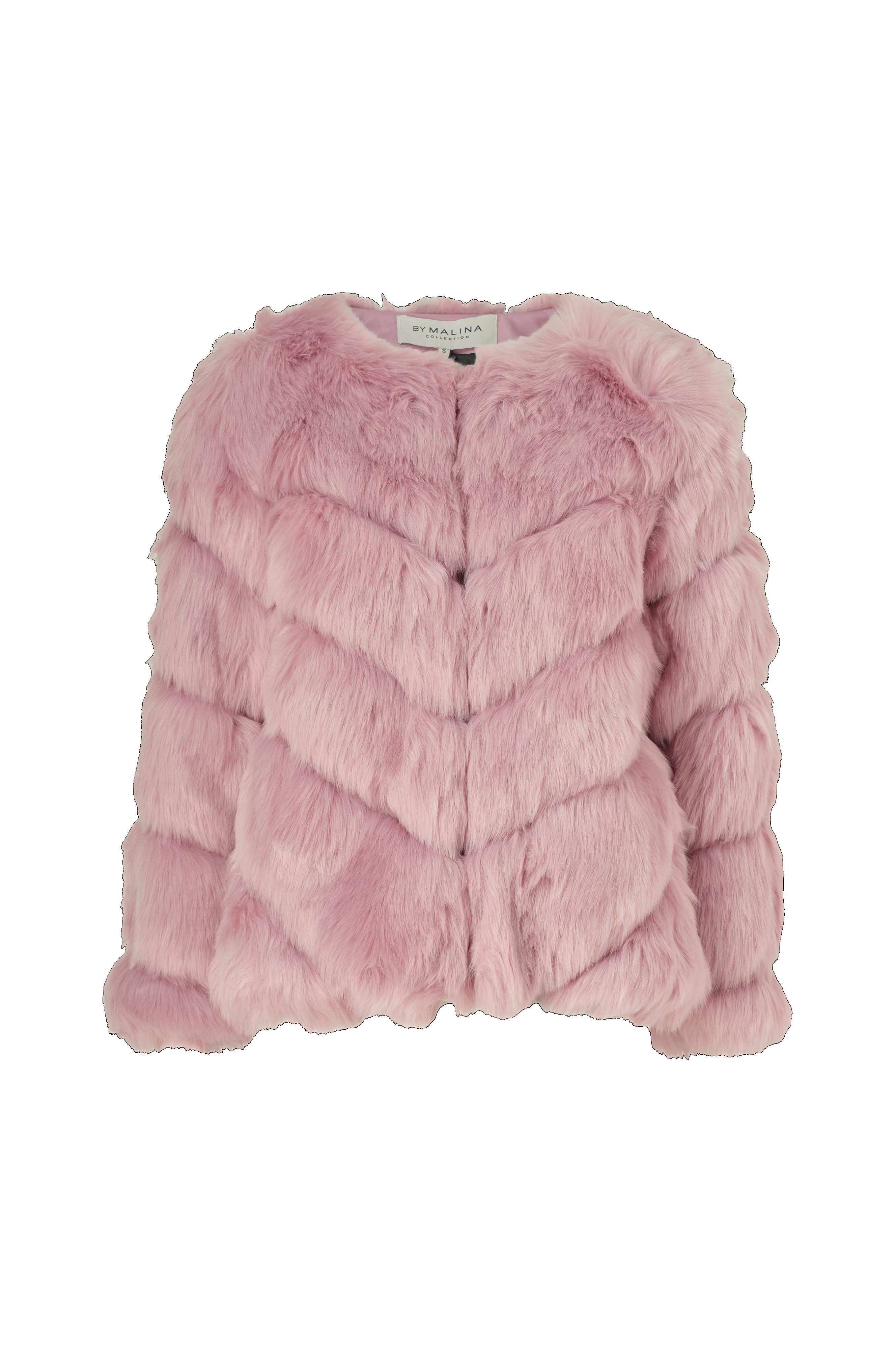 By Malina Fuskepels Oria Faux Fur Jacket Rosa Jakker
