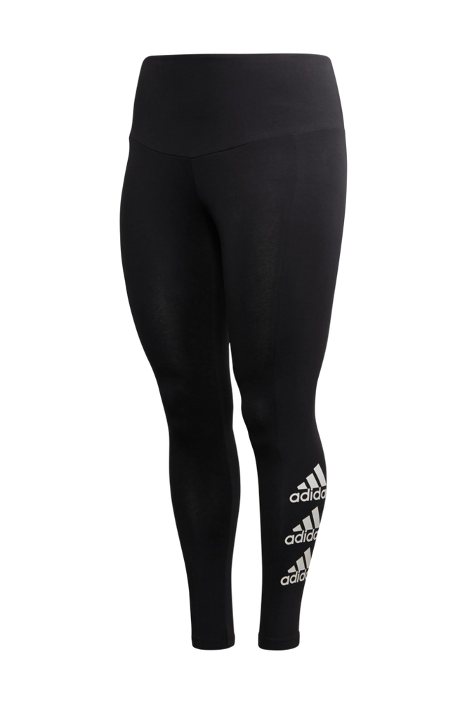 Se adidas Sport Performance Træningstights Stacked Logo Tights Plus ved Ellos