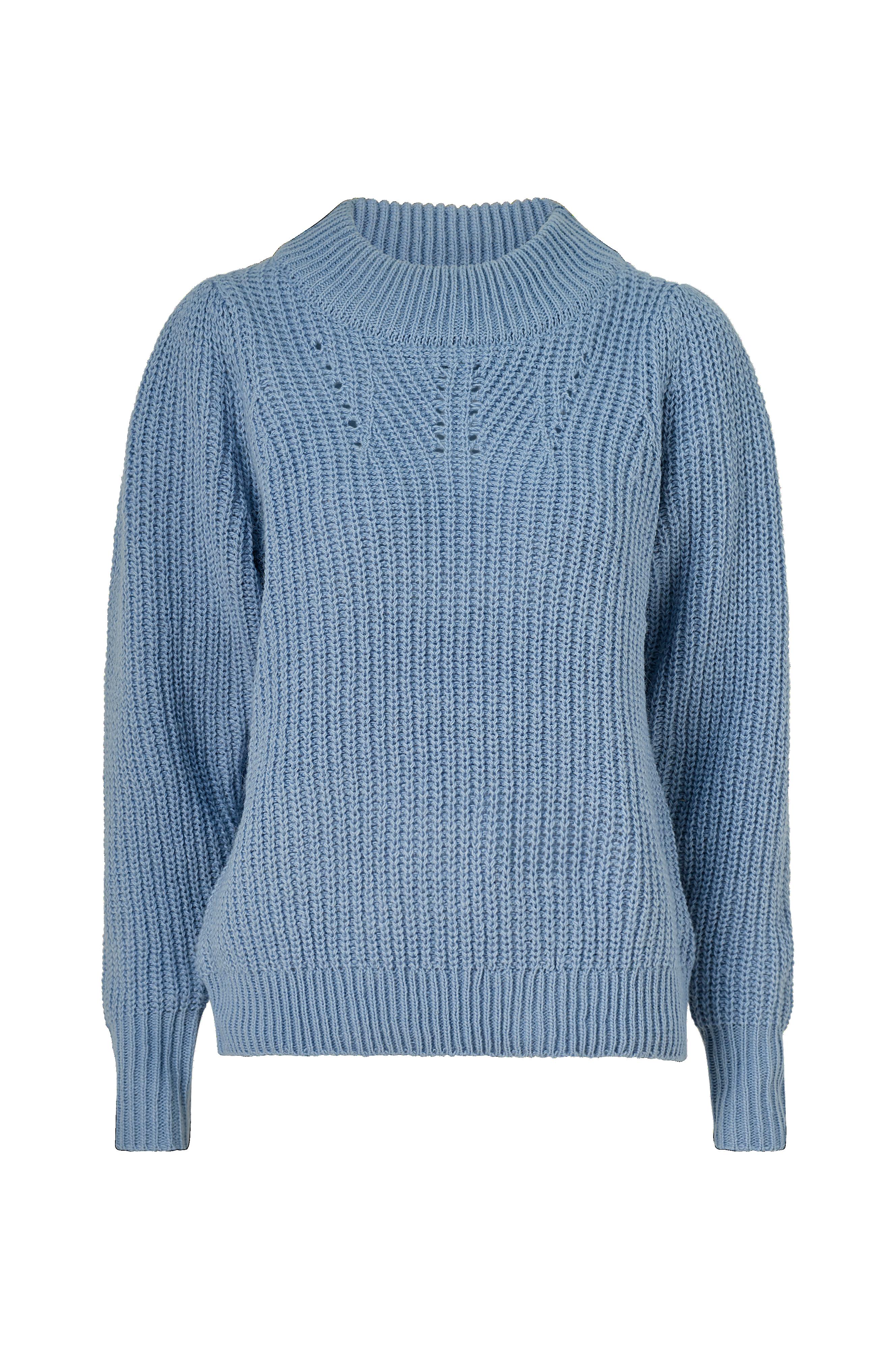 co'couture Genser New Delambre Knit Blå Strikkede