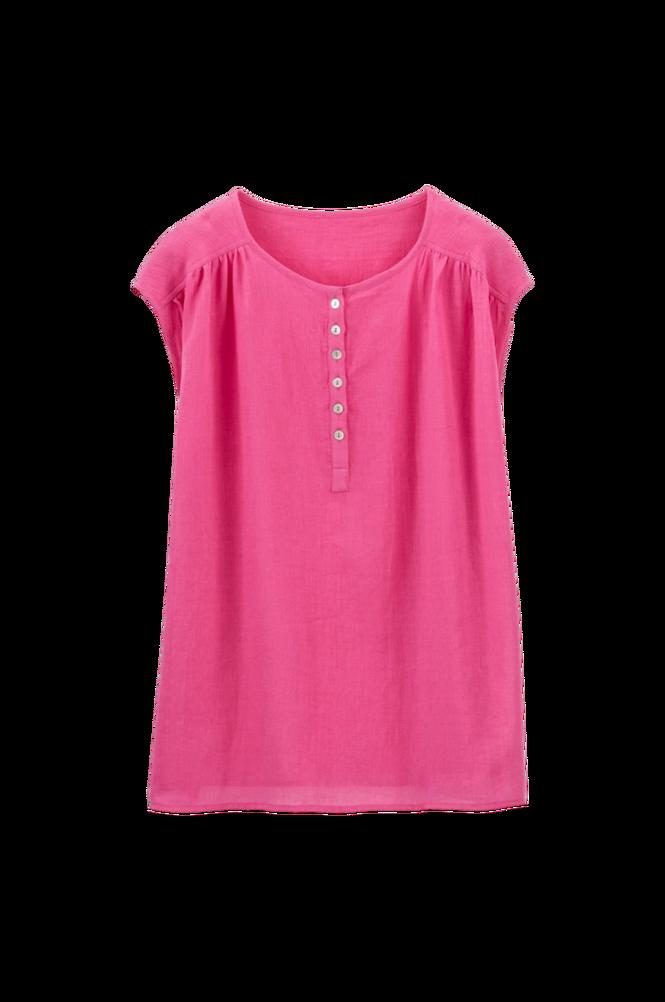 La Redoute Ærmeløs bluse med slids i halsudskæringen