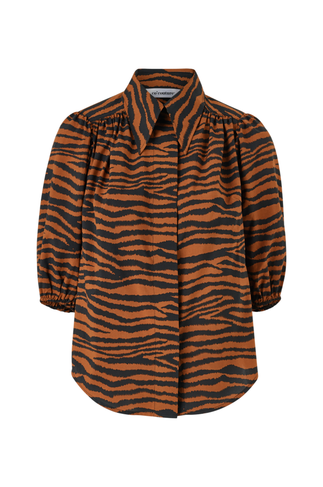 co'couture Bluse Java Tiger Puff Shirt