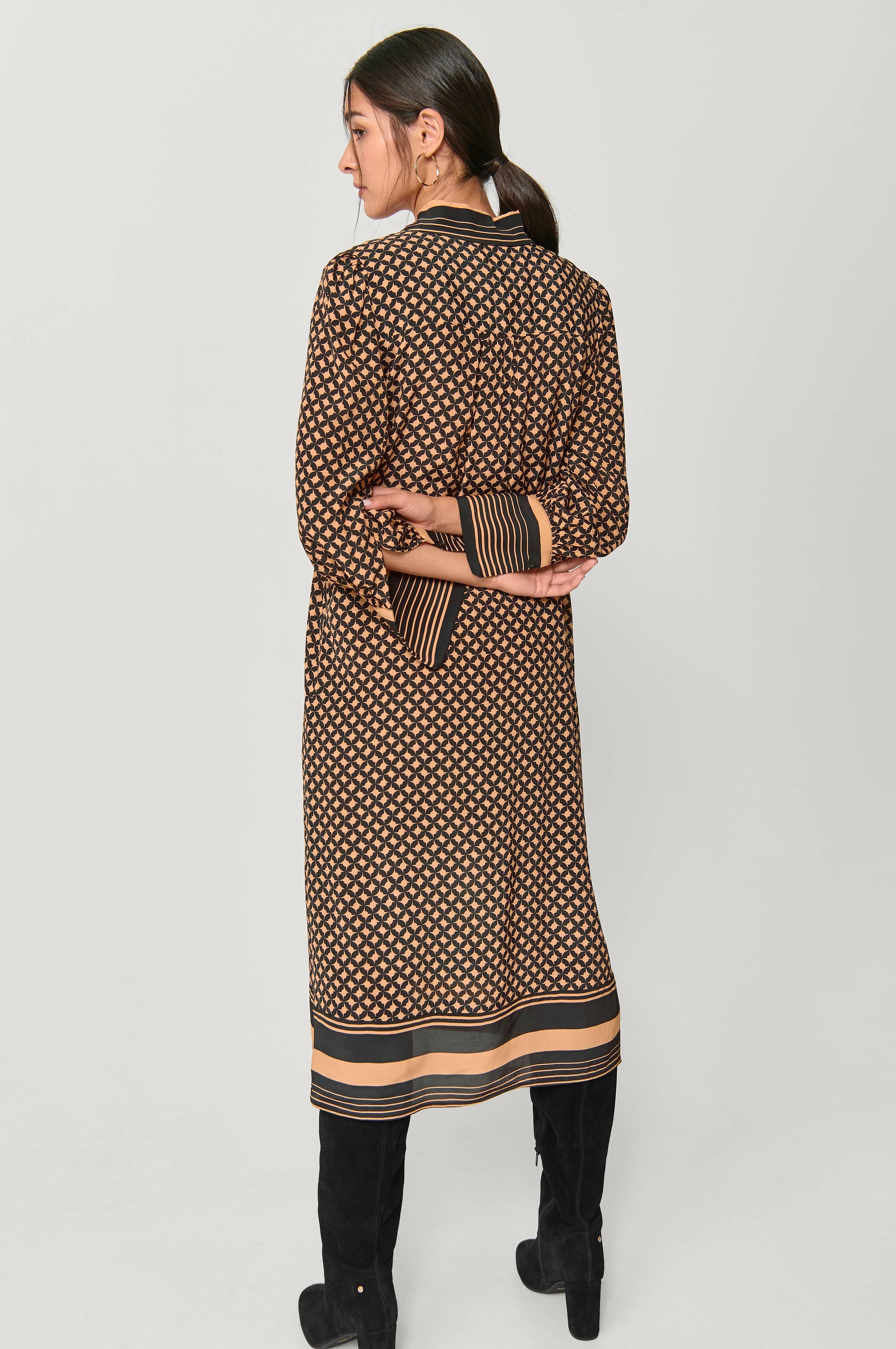 Second Female Kjole Sirius LS Midi Dress Sort Dame