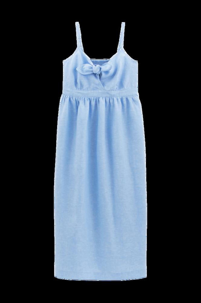 La Redoute Lang kjole i hørlærred med skulderstropper