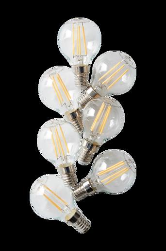 7/pakk. himmennettävä LED-pallolamppu E14 4W, Ø 45 mm