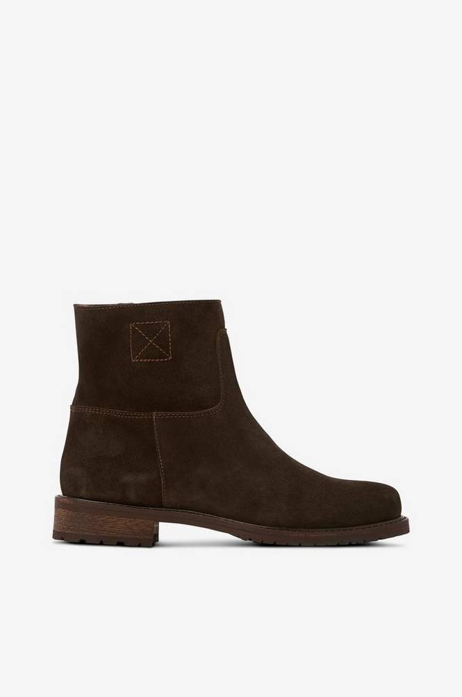 Apair Boots i ruskind med uldfor