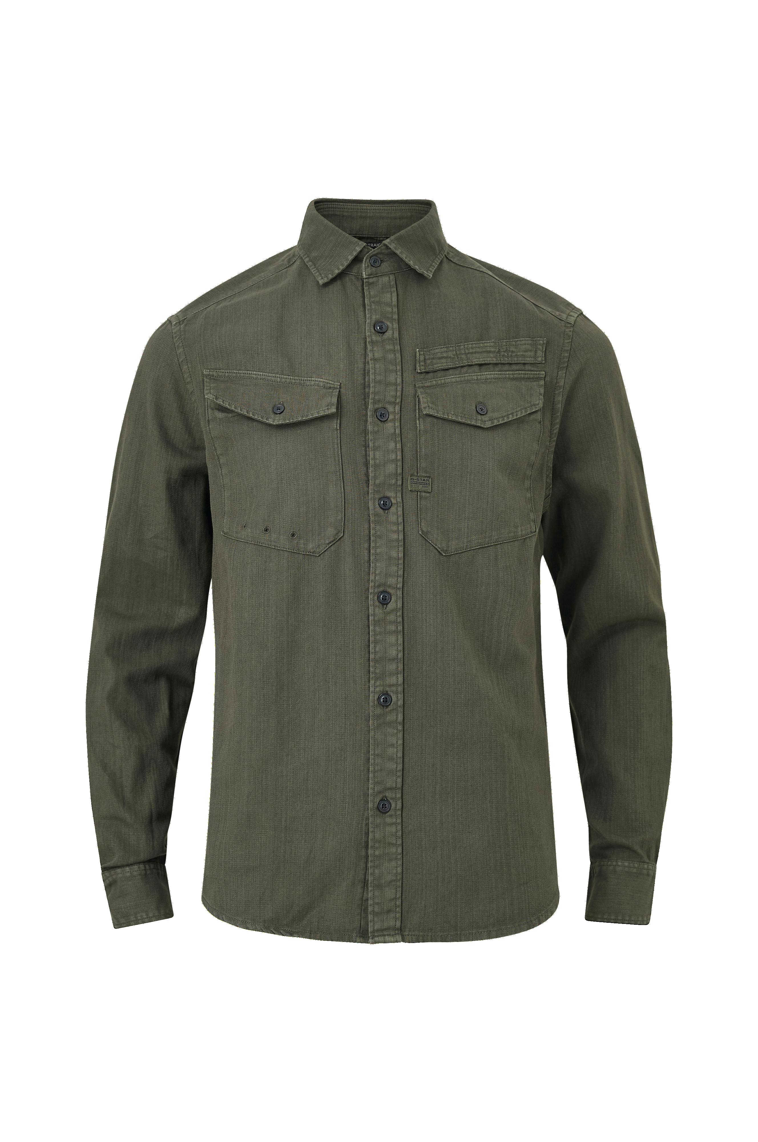 G Star Skjorte Army Straight Shirt Grå Langermede