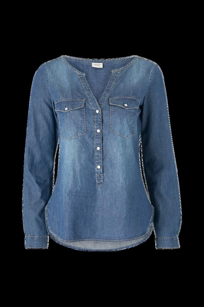 Jacqueline de Yong Denimskjorte jdyWyre L/S Placket Denim Shirt