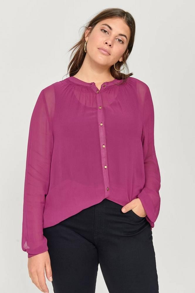 Zizzi Bluse mPolly L/S Shirt