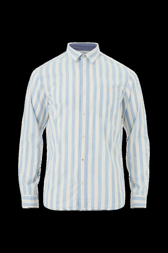 Se jack & jones Skjorte jprMax Stripe Shirt L/S One Pocket ved Ellos