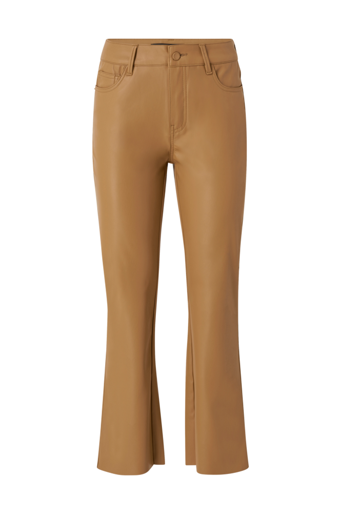 Vero Moda Bukser vmShiela MR Kick Flare PU Coated Pants
