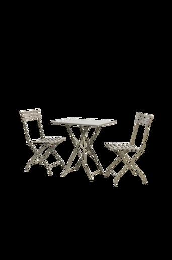 Café-ryhmä Laren, kaksi tuolia ja pöytä