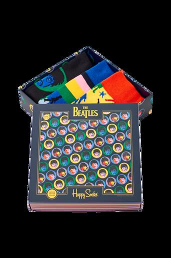 Lahjapakkaus The Beatles Socks Box -sukkalahjapakkaus, 3 paria
