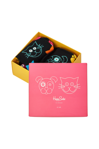 Lahjapakkaus Cat vs Dog Gift Box, 2 paria sukkia