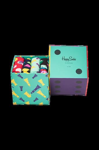 Lahjapakkaus Game Night Gift Box, 4 paria sukkia