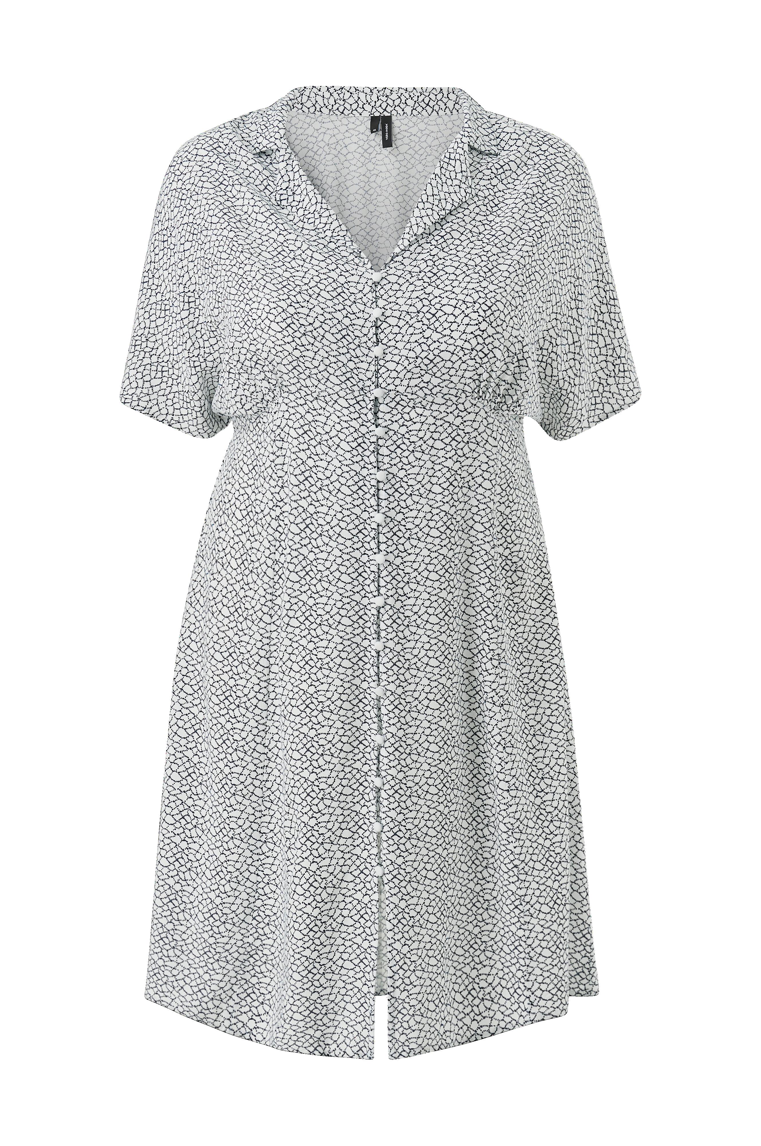 0d824905 Vero Moda Curve Kjole vmChristas S/S ABK Dress Curve - Hvid - Dame -  Ellos.dk