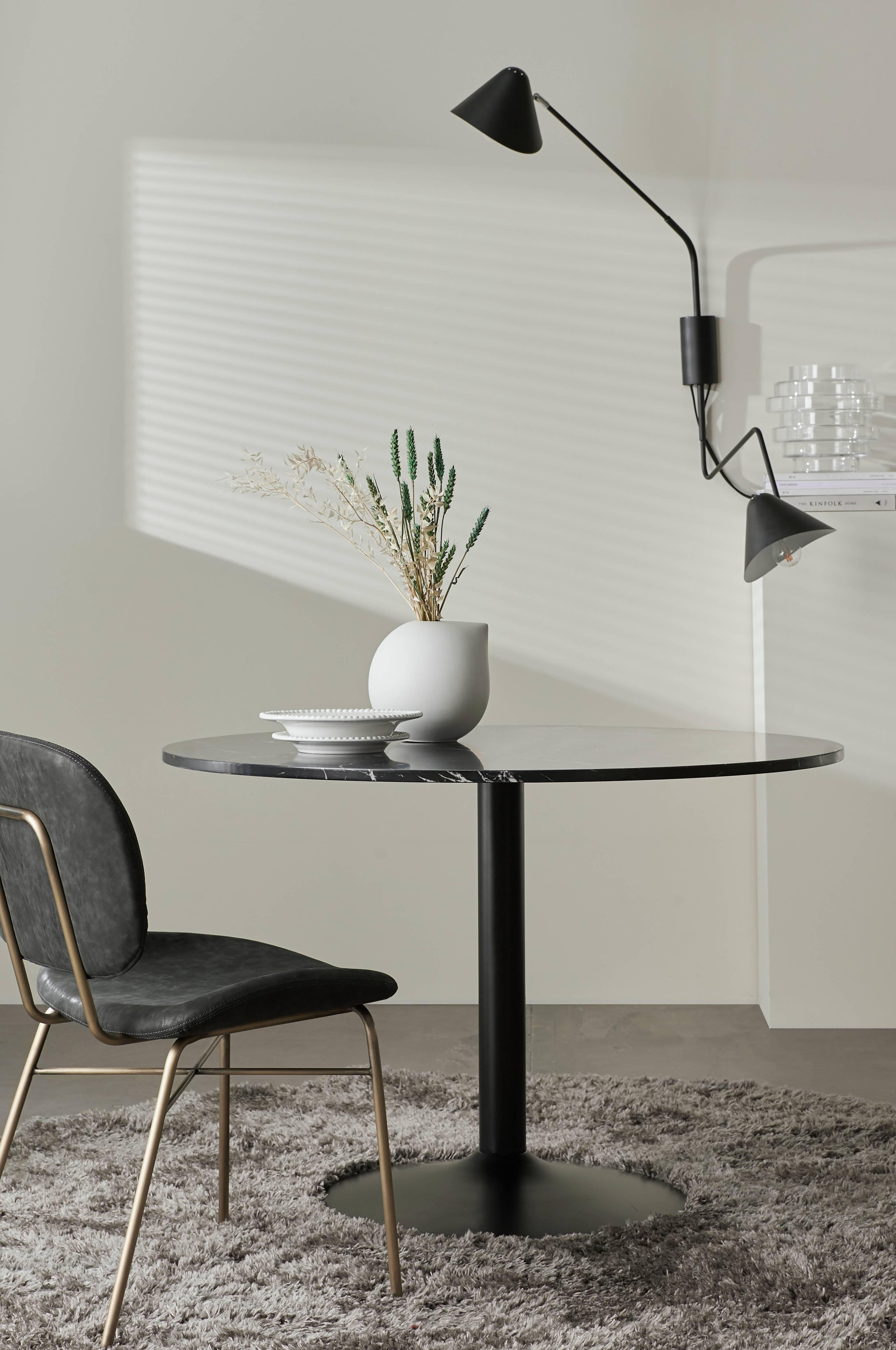 Ellos Home Kjøkkenbord Lime Ø 110 cm Svart Spisebord
