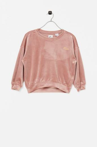Collegepusero Mini Velour Sweatshirt
