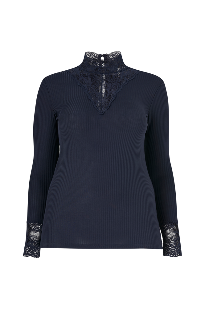 Only Carmakoma Top carLace Highneck L/S Top