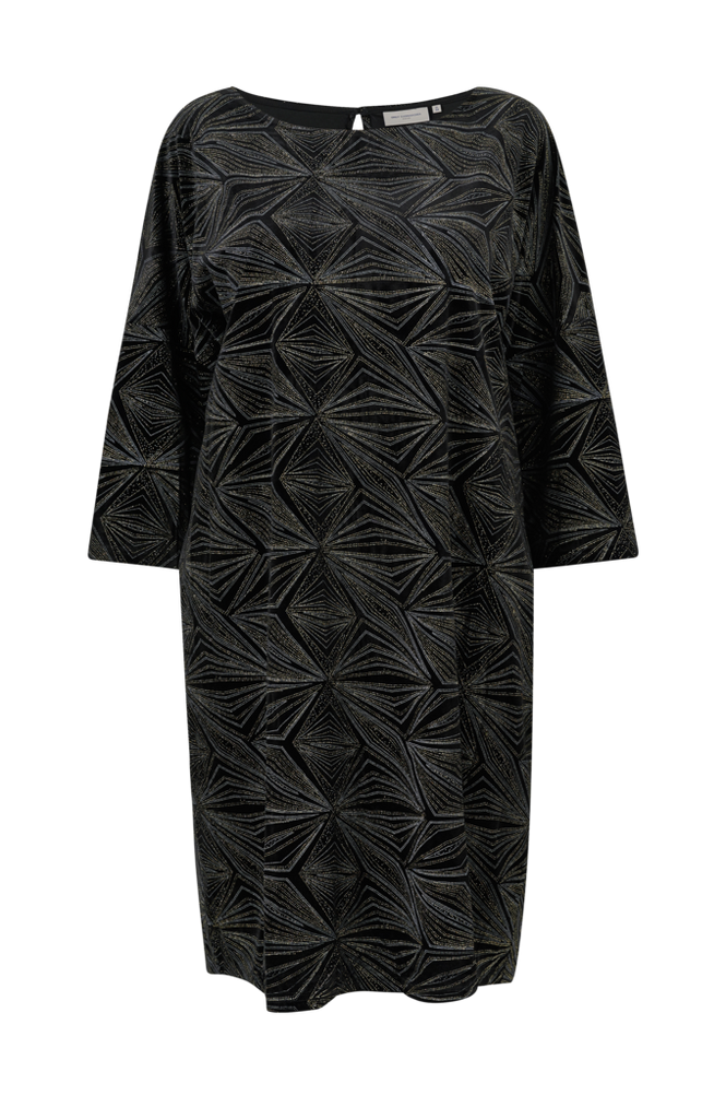 Only Carmakoma Velourkjole carSalana 3/4 Knee Dress