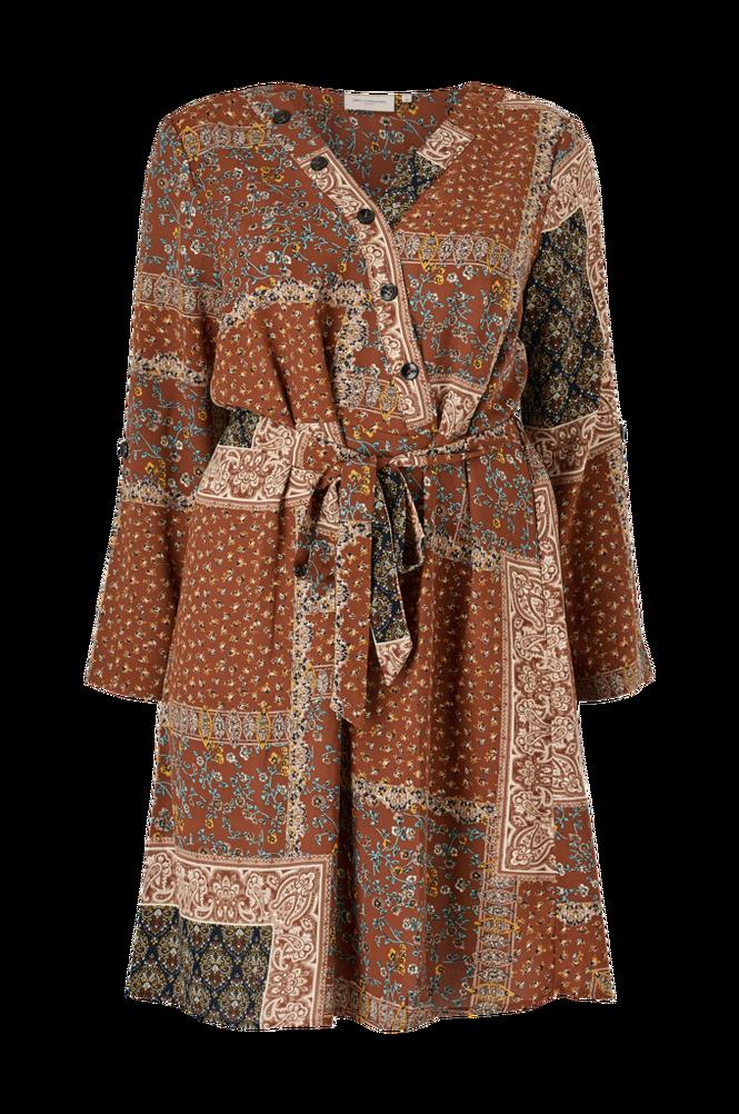 Only Carmakoma Kjole carFlowerscarf LS Knee Dress