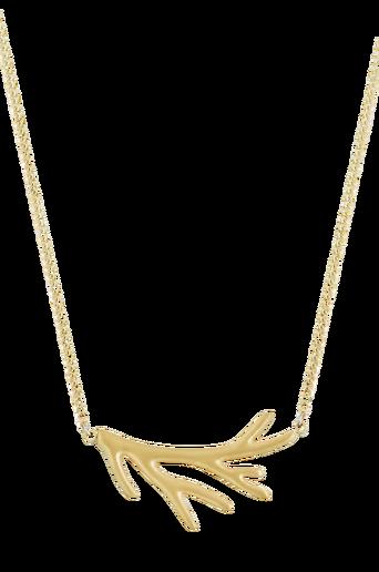 Kaulakoru Branch Necklace Short Matt Gold