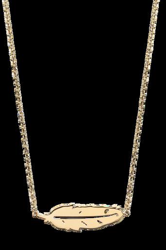 Kaulakoru Feather Necklace Short Gold