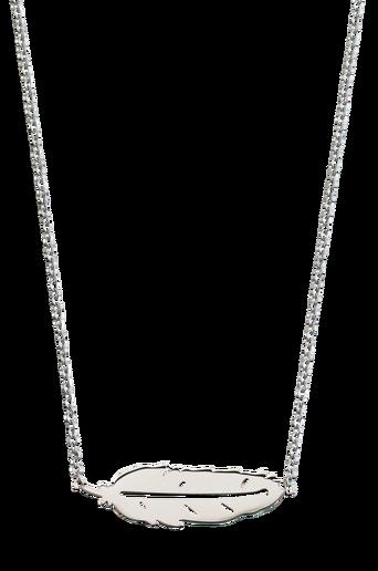 Kaulakoru Feather Necklace Short Steel