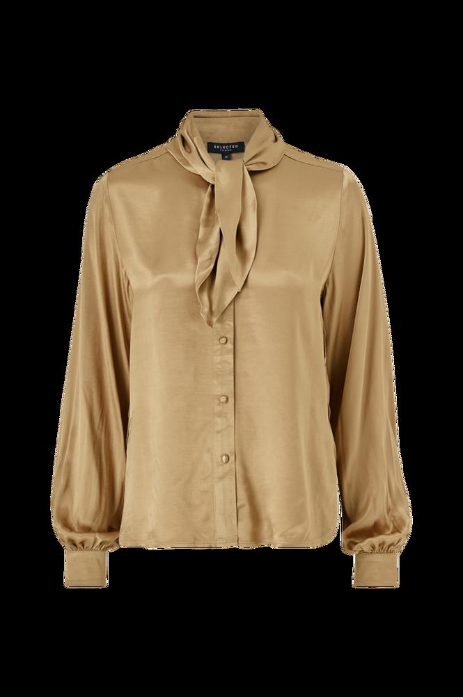 Selected Femme Bindebåndsbluse slfDakota LS Shirt