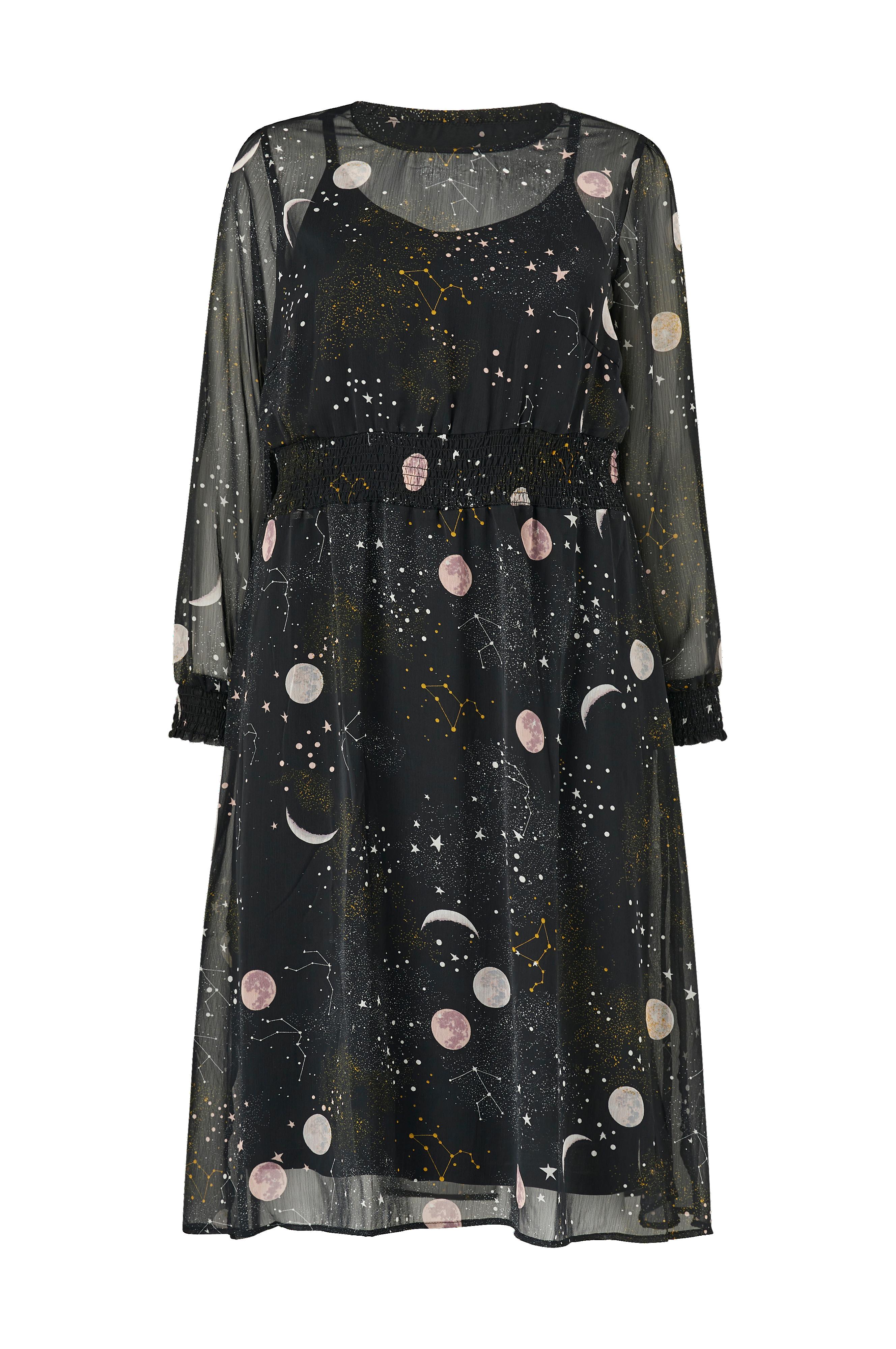 klänning med rymdmönster för barn