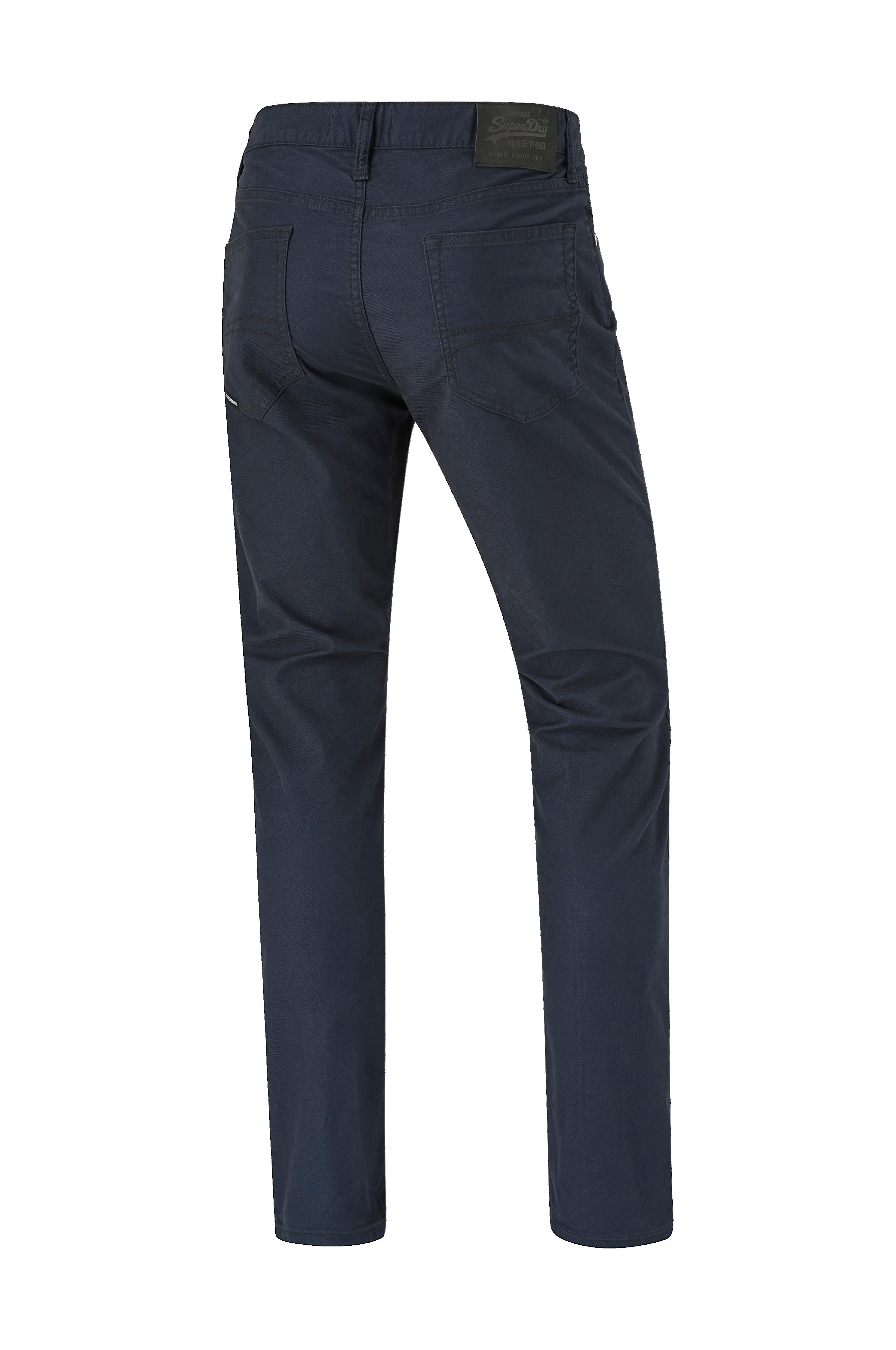 Superdry Jeans Edit Tyler Slim Dbl Dye Twills - Blå - Herr