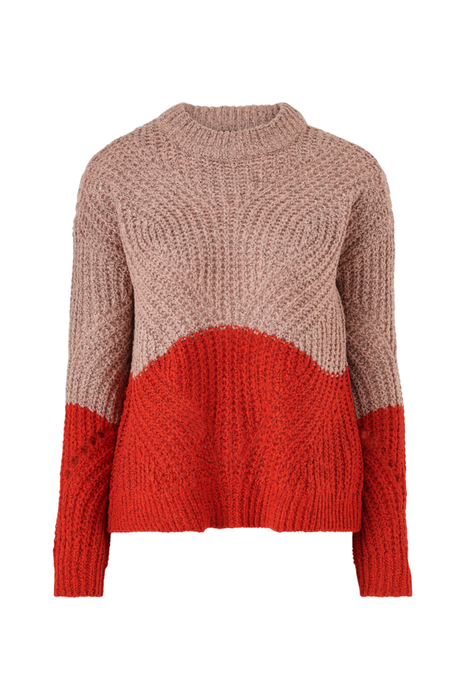 Object Trøje objAya Love L/S Knit Pullover