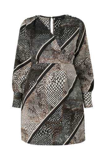 Mekko vmIsolde Stripe LS Short Dress Curve