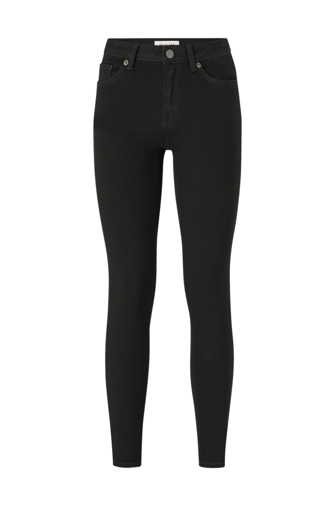 Selected Femme Jeans slfIda MW Skinny Black Jeans