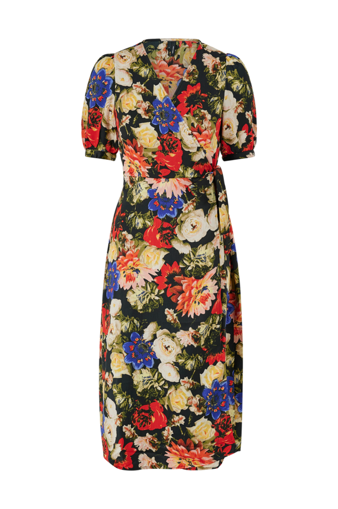 Vero Moda Slå om-kjole vmLillian 2/4 Wrap Calf Dress