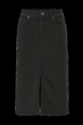 Farkkuhame slfViolet HW Lash Black Denim Skirt