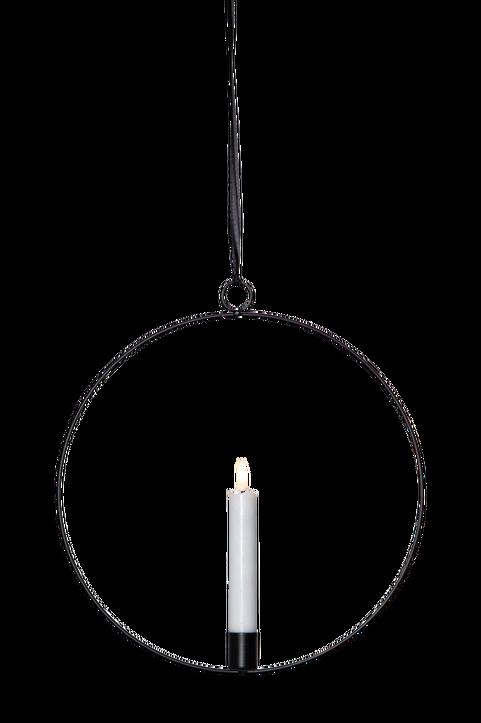 Inomhusdekoration Flamme ring, svart