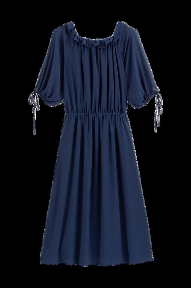 La Redoute Halvlang kjole med rund hals og albuelangt ærme