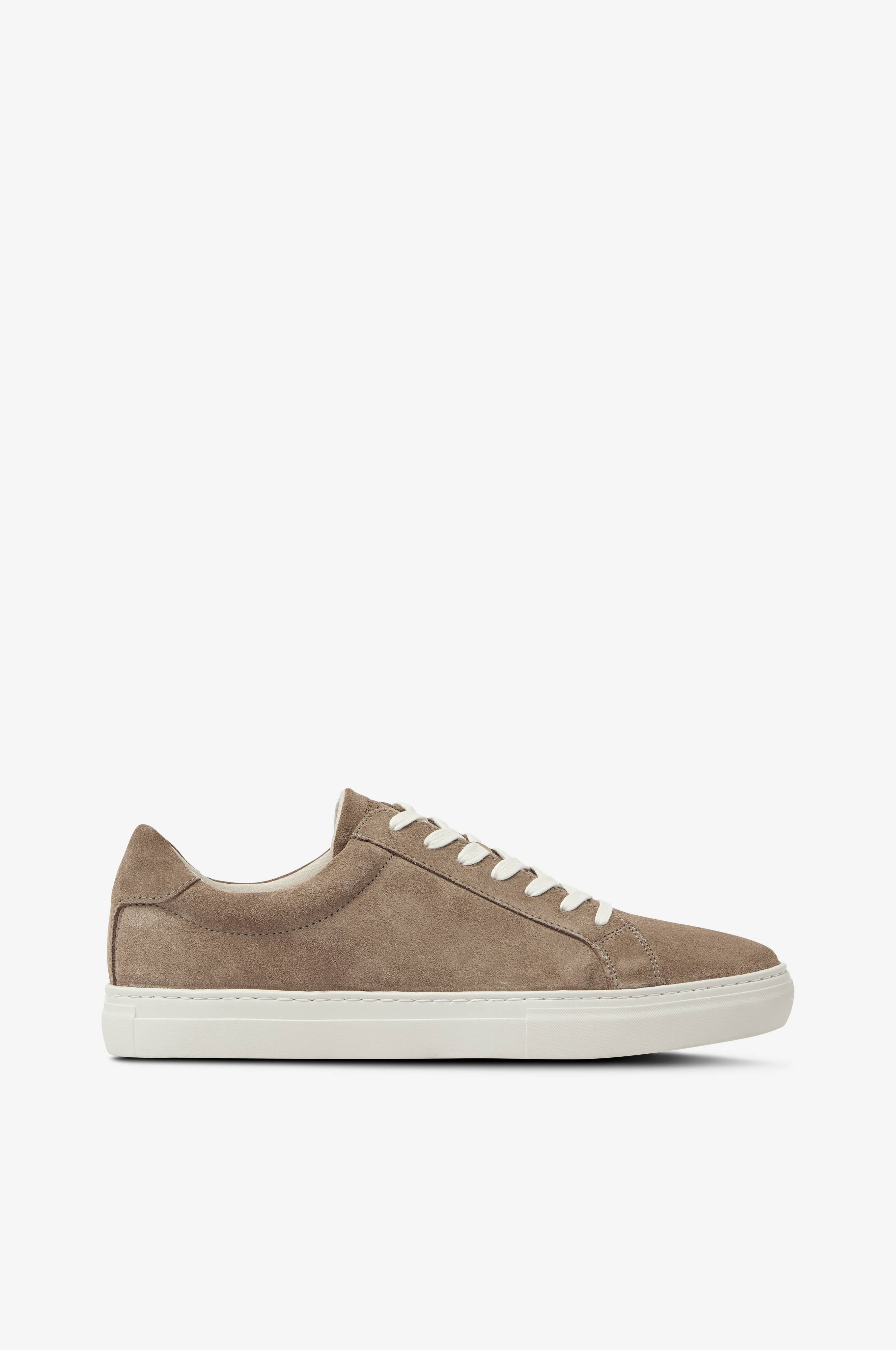 Sneakers Paul i semsket skinn