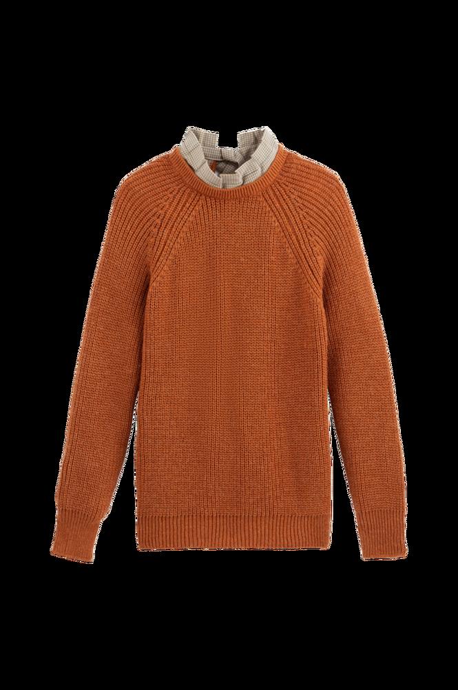 La Redoute Groftstrikket trøje 2-i-1 med sløjfe bagpå